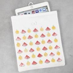 Tablet cover/fodral stämplat med fruktmotiv