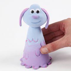 Lu-La från fåret Shaun modellerad i Silk Clay