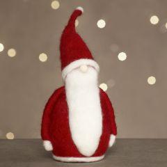 Nålfiltad jultomte av frigolit.