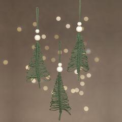 Julgran av makramé till upphängning
