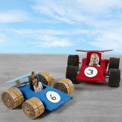 Racerbilar av papprör
