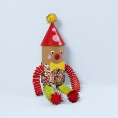 Clown av papprör