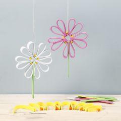 Färgrik blomma av dekorgummi