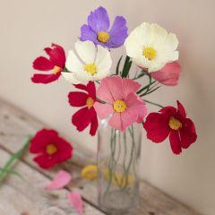 Rosenskära, pappersblomma av kräppapper