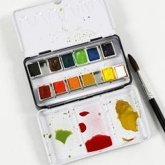 Så här blandar du akvarellfärger