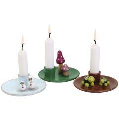 Charmiga ljusstakar med minifigurer