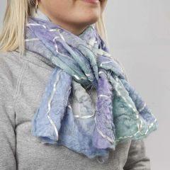 Ullscarf med försvinningstyg
