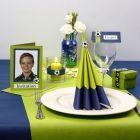 Inspiration till fest i lime och blått