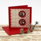 Julkort med cabochoner och designpapper från Vivi Gade