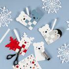 Flätade julhjärtan med polardjur