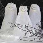 Spöke av ballonger med LED-ljus