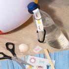Flaskhållare dekorerad med rub on stickers