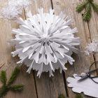Snöflingestjärna av papperspåsar