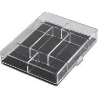 Akrylaskar, stl. 11,8x9,3x2,2 cm, 100 st./ 1 förp.