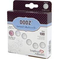 Dodz Adhesive Dots, Dia. 12 mm, tjocklek 2 mm, 100 st./ 1 förp.