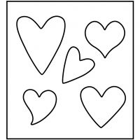 Skärschablon, hjärta, stl. 14x15,25 cm, tjocklek 15 mm, 1 st.