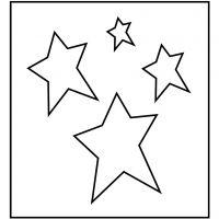 Skärschablon, stjärna, stl. 14x15,25 cm, tjocklek 15 mm, 1 st.