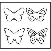 Skärschablon, fjäril, stl. 14x15,25 cm, tjocklek 15 mm, 1 st.