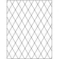 Embossingfolder, romber, stl. 11x14 cm, tjocklek 2 mm, 1 st.