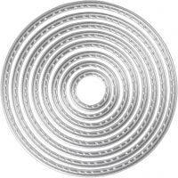 Skär och prägelschablon, cirklar, Dia. 1,5-7 cm, 1 st.