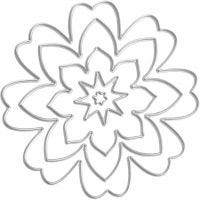 Skärschablon, blomma, Dia. 0,5-8 cm, 1 st.