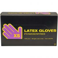 Latex handskar, stl. x-small , 100 st./ 1 förp.