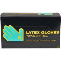 Latex handskar, stl. small , 100 st./ 1 förp.