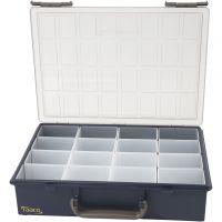Raaco Multicase sortimentlåda, 16 lösa fack , H: 8 cm, stl. 33,8x26,1 cm, 1 set