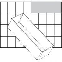 Raaco lådinsats, nr. A8-2, H: 47 mm, stl. 157x55 mm, 1 st.