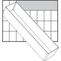 Raaco lådinsats, nr. A8-3, H: 47 mm, stl. 235x55 mm, 1 st.