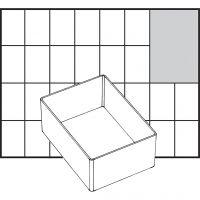 Raaco lådinsats, nr. A7-1, H: 47 mm, stl. 109x79 mm, 1 st.
