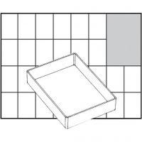 Raaco lådinsats, nr. A71 Low, H: 24 mm, stl. 109x79 mm, 1 st.