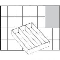 Raaco lådinsats, nr. A73 Low, H: 24 mm, stl. 109x79 mm, 1 st.