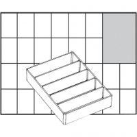 Raaco lådinsats, nr. A75 Low, H: 24 mm, stl. 109x79 mm, 1 st.