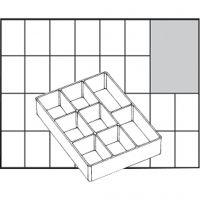 Raaco lådinsats, nr. A78 Low, H: 24 mm, stl. 109x79 mm, 1 st.