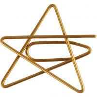 Gem, stjärna, stl. 30x30 mm, guld, 6 st./ 1 förp.