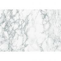 Självhäftande folie, marmor, B: 45 cm, grå, 2 m/ 1 rl.