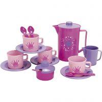 Dantoy kaffeset, rosa, lila, 17 st./ 1 set