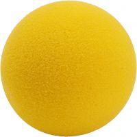 Softboll, Dia. 7 cm, gul, 1 förp.