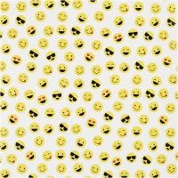 Presentpapper, smiley, B: 57 cm, 80 g, 150 m/ 1 rl.