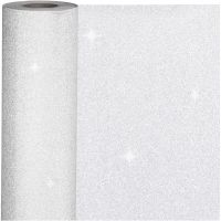 Presentpapper, B: 50 cm, 80 g, silver, 100 m/ 1 rl.