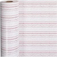 Presentpapper, doodles, B: 57 cm, 80 g, röd, vit, 150 m/ 1 rl.