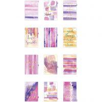 Skiljeblad, A5, 12 , guld, lila, rosa, 1 st./ 1 förp.