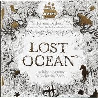 Antistress målarbok, Lost Ocean, stl. 25x25 cm, 80 , 1 st.