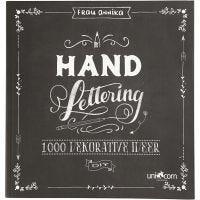 Inspirationsbok till *Hand Lettering*, stl. 22x23 cm, tjocklek 2 cm, 143 , 1 st.