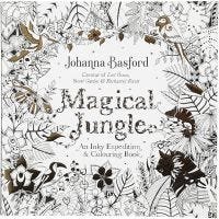 Antistress målarbok, Magical Jungle, stl. 25x25 cm, 80 , 1 st.