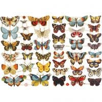 Bokmärken, fjärilar, 16,5x23,5 cm, 2 ark/ 1 förp.
