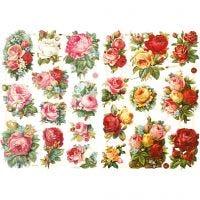 Bokmärken, rosor mixade, 16,5x23,5 cm, 2 ark/ 1 förp.