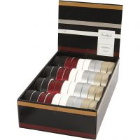 Presentband, B: 18 mm, mixade färger, 40x25 m/ 1 förp.