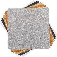 Cricut Glitter kartong-prover (Klassiker), stl. 30x30 cm, 10 ark/ 1 förp.